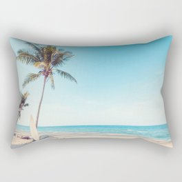 Surfboards on the Beach Rectangular Pillow