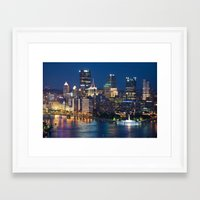 pittsburgh Framed Art Prints featuring Pittsburgh by Cody Rayn