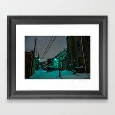 Green Alley Framed Art Print