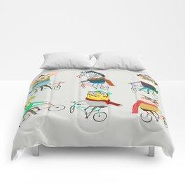 Bikers. Comforters