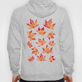 Maple leaves white Hoody
