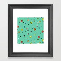 mint pop flower spot Framed Art Print