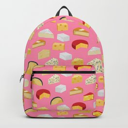 Cheese food pattern food fight apparel and gifts Backpack