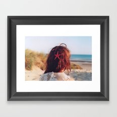 seaside girl Framed Art Print