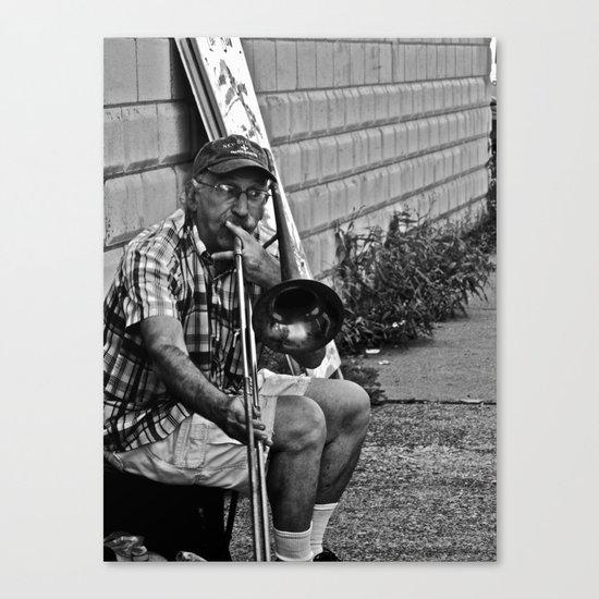 Trombone Busking Canvas Print