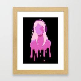 Music is Good for the Soul! (pink) Framed Art Print