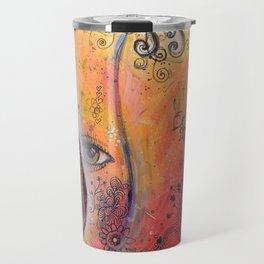 Abstract Art Original Nude Woman Girl Painting ... The Company You Keep Travel Mug