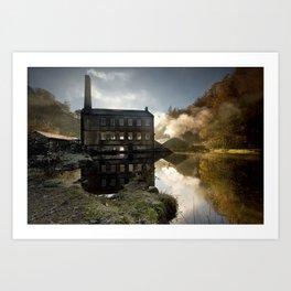 Autumn Sunrise at Gibson Mill, West Yorkshire Art Print