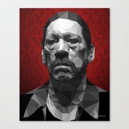 Danny Trejo low poly Canvas Print