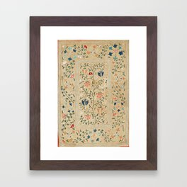 Uzbekistan Suzani Nim Embroidery Print Framed Art Print