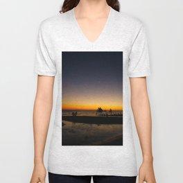 Beautiful Sunset Unisex V-Neck