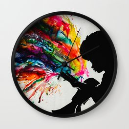 Girl with Book of Possibilities Wall Clock