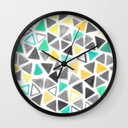 Crayon Triangles Wall Clock