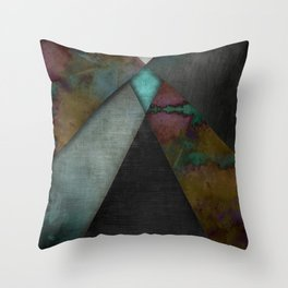 """""""Grunge metal pattern"""" Throw Pillow"""