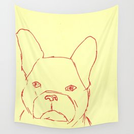 Sketched Frenchie Wall Tapestry