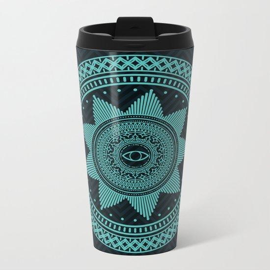 Eye of Protection Mandala Metal Travel Mug