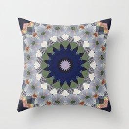 Patchwork Whimsy -- Vintage Block Quilt Mandala Kaleid0scope Throw Pillow