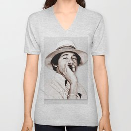 Barack Obama Smoking weed Unisex V-Neck