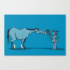 Hobby Horse Romance Canvas Print
