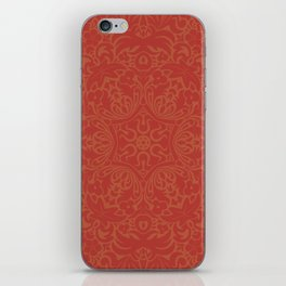 Sonora Brown Rust Mandala With Red Well Read Backdrop iPhone Skin
