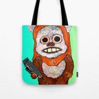 ewok Tote Bags featuring Eccentric Ewok by Jordan Soliz