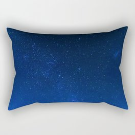 Blue Night Sky (Color) Rectangular Pillow
