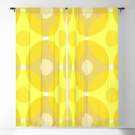 Yellow Circles Blackout Curtain