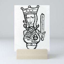 King of Clubs Mini Art Print