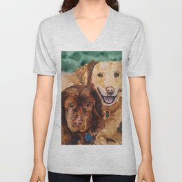 Two Dogs Unisex V-Neck