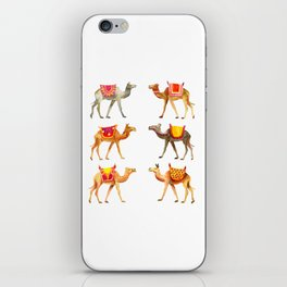 Cute watercolor camels iPhone Skin