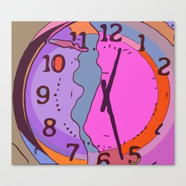 Oh, dear. I melted my clock again. Canvas Print