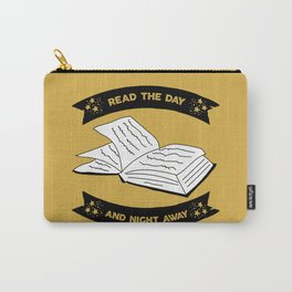 Read the Day and Night Away (Yellow) Carry-All Pouch