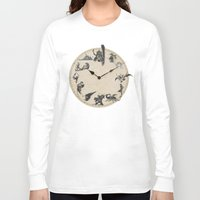 final fantasy Long Sleeve T-shirts featuring FINAL FANTASY CLOCK by DrakenStuff+