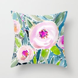 Ballerina Blow Out Floral Throw Pillow