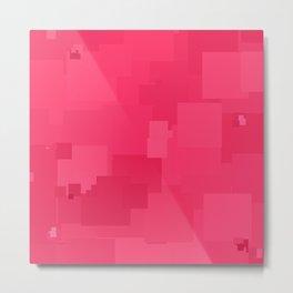 Honeysuckle Square Pixel Color Accent Metal Print