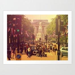 London Buckingham Road Art Print