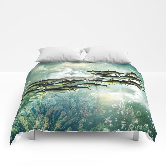 Fish shoal Comforters