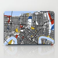 new orleans iPad Cases featuring New Orleans by Mondrian Maps