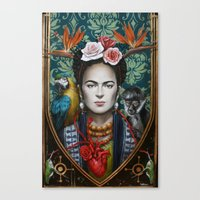 frida Canvas Prints featuring Frida by Sophie Wilkins