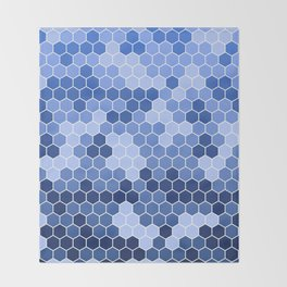 Honeycomb Blue Pattern   Geometric Shapes   Home Decor   Sapphire   For Him   For Her Throw Blanket