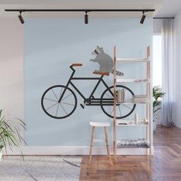 Raccoon Riding Bike Wall Mural