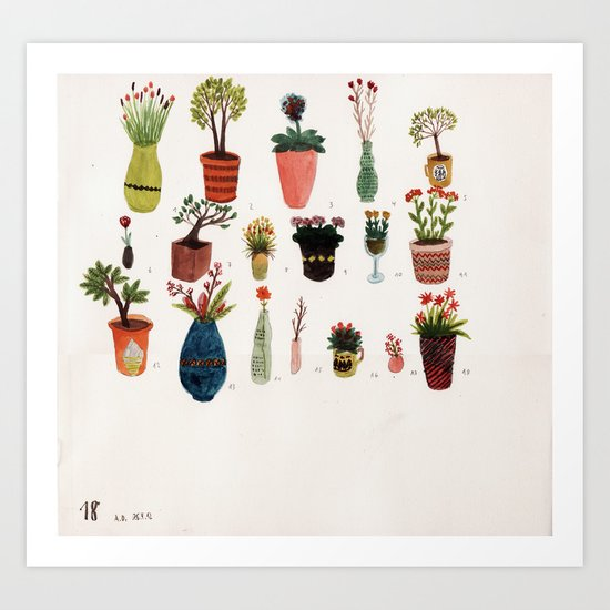 Flowers and Plants Art Print