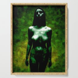 """NUDE """"walk in green"""" Serving Tray"""