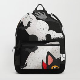 Meowcula Funny Halloween Cat Backpack