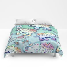ELEPHANT PARTY MINT Comforters