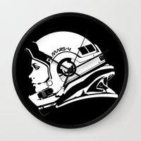 astronaut Wall Clocks featuring Astronaut by Sventine