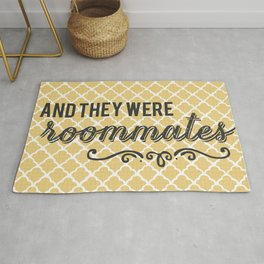 And They Were Roommates (Yellow) Rug