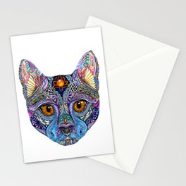 Mystic Psychedelic Cat Stationery Cards