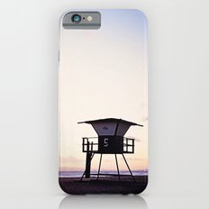 Vintage Lifeguard Tower Silhouette at Sunset, Sunset Beach, California iPhone 6s Slim Case