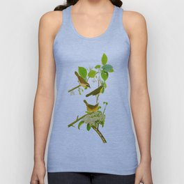 Yellow-breasted Warbler Bird Unisex Tank Top